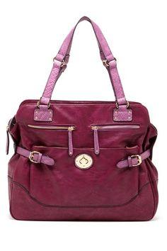 Colorblock Printed Accent Handbag by Mon Santino on @HauteLook