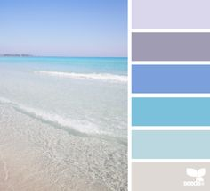 crystal clear tones - color palette from Design Seeds Colour Schemes, Color Combos, Paint Schemes, Colour Palettes, Palette Pastel, Blue Palette, Beach Color, Color Palate, Design Seeds