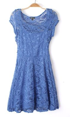 Short sleeve lace dress A007 Blue : http://www.oasap.com/tag/lace-dress