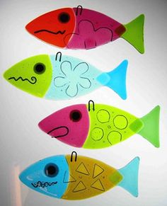 fused glass fish