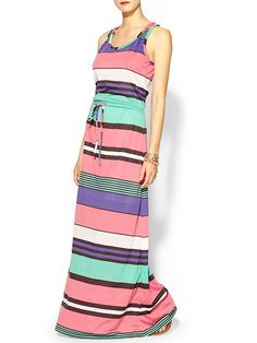 Hive & Honey Novelty Stripe Knit Maxi