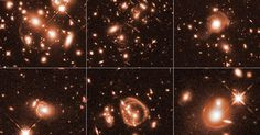 """times more luminous than our Milky Way, a series of the universe's """"brightest infrared galaxies"""" have been captured by NASA's Hubble Space Telescope. Using a natural phenom… Star Trek Show, Hubble Space Telescope, Telescope Images, New Star, Our Solar System, Amazing Spaces, To Infinity And Beyond, Astronomy"""