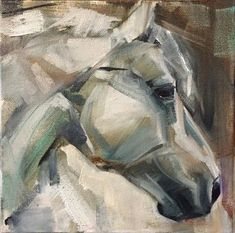 """8X8"""" Abstract Horse Painting, Watercolor Horse, Abstract Art, Abstract Landscape, Animal Paintings, Horse Paintings, Pastel Paintings, Shetland, Horse Artwork"""