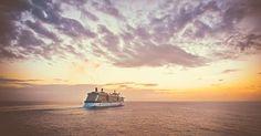 Crucero, Barco, Puesta De Sol, De Viaje