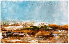 'On the road to Cill Rialaig – A Study' Mixed media on board X This smaller sketch informed one of my bigger paintings – see: Ballads to the Bog exhibition Irish Landscape, Abstract Landscape, Abstract Painters, Art Paintings, Mixed Media, Sketch, Study, Artists, Contemporary
