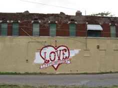 Vance Avenue and Allen Street in Memphis, TN 38126  'I Love Memphis' wall mural
