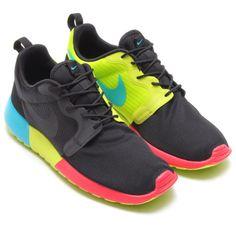 best website 0d78b 407fd Nike Roshe Run Hyperfuse - Black Venom Green