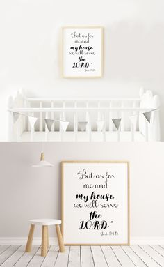 "☆ A Beautiful Print for your Home. One image with a Bible verse presented in different fonts.☆ ""But as for me and my house, we will serve the Lord. Christian Wall Decor, Different Fonts, Serve The Lord, Nursery Wall Decor, My House, Bible Verses, Thats Not My, Printables, Kids"