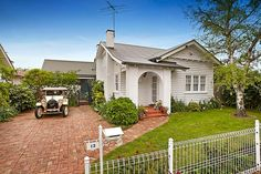 White on white Californian Bungalow - 13 Anderson Street ASCOT VALE