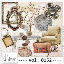 Vol. 0152 - Vintage Mix  by Doudou's Design  #CUdigitals cudigitals.com cu commercial digital scrap #digiscrap scrapbook graphics