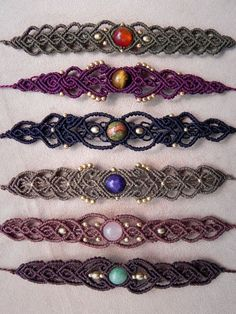 Macramé BRACELET or CHOKER. Tribal Beach Jewelry. Gypsy hearts and bohemian souls. Spiritual Jewelry. Healing Crystals.