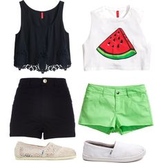 """""""•.•2 summer outfits•.•"""" by annesofie-anso on Polyvore"""