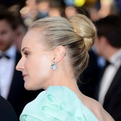 Diane Kruger. She always looks amazing, but just saw she has a cartilage piercing. like the hoop