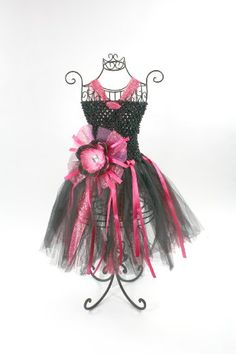 Glitter Halter Top Tutu Dress Coordinating Peony « Dress Adds Everyday