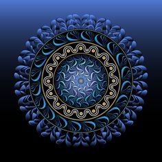 Circularium No 2656 by Alan Bennington Mandala Pattern, Mandala Design, Mandala Art, Muslim Images, Blue Flower Wallpaper, Yin Yang Art, Magic Design, Black Light Posters, New Media Art