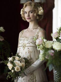 Lily James as Lady Rose Aldridge.