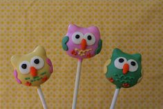 Happy Owls Cake Pops, Flickr - Photo Sharing!