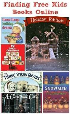 25 Free Holiday e-books for kids + bonus holiday audio stories & music too! Great to have for holiday travel.