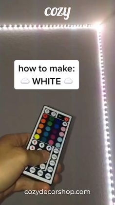 Want to make your room cooler? Our LED Strip Lights are a must. Get yours today at Cozy Decor. room white How to make White with LED Lights Led Room Lighting, Room Lights, Strip Lighting, Cute Room Ideas, Cute Room Decor, Led Diy, Led Light Strips, Led Strip, Room Cooler