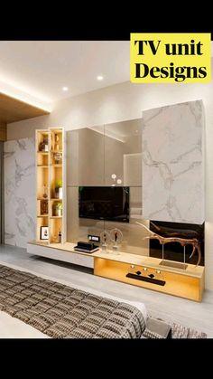 Tv Unit Furniture Design, Tv Unit Interior Design, Bedroom Furniture Design, Luxury Bedroom Design, Home Room Design, Bedroom Bed Design, Room Interior, Interior Design Living Room, Modern Home Interior Design