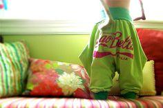 upcycle shirts into toddler harem pants
