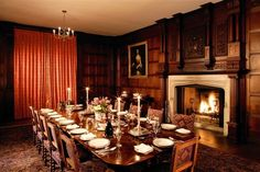 The dining room of Chawton House.