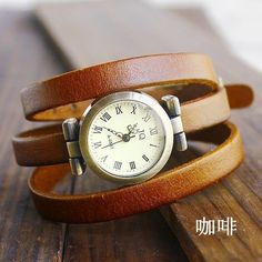 Casual Chic Leather Watch. $11.90, via Etsy.
