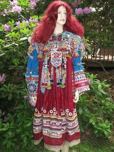 Vintage KUCHI Tribal Ethnic Dress With Silver by EclecticCollage, $275.00