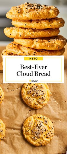 How To Make Keto-Friendly Cloud Bread You'll Actually Want to Eat So machen Sie ketofreundliches Wolkenbrot, das Sie tatsächlich essen. Bread Recipes, Low Carb Recipes, Diet Recipes, Cooking Recipes, Healthy Recipes, Recipies, Simple Recipes, Shrimp Recipes, Summer Recipes