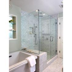 Master Bathroom - traditional - bathroom - boston - by Justine... ❤ liked on Polyvore