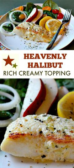 Heavenly Halibut is a broiled halibut fillet recipe crusted with a rich mayo Parmesan topping. A beautiful topping for sweet mild flavored halibut. Ready in 30 minutes this is an easy weeknight fish recipe that will become your favorite seafood dinner. Fish Dinner, Seafood Dinner, Fish And Seafood, Dinner Sides, Seafood Recipes, Cooking Recipes, Cooking Tips, Healthy Recipes, Healthy Food