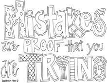 Free printable coloring page. Could use to go along with children's book The Girl Who Never Made Mistakes.