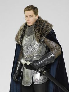 Once Upon A Time Season Three - Cast Promotional Still of Prince Charming wearing armor.