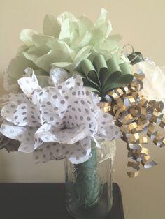 46 Ideas Bridal Bouquet Diy Rehearsal Dinners For 2019 Wedding Rehearsal Bouquet, Bridal Shower Bouquet, Bridal Bouquet Fall, Bridal Shower Photos, Unique Bridal Shower, Flower Bouquet Wedding, Bridal Showers, Ribbon Bouquet, Boquet
