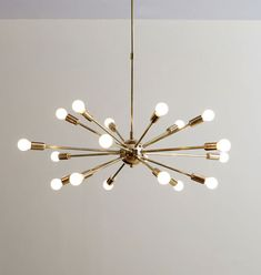Stunning 18 arm sputnik Starburst chandelier light fixture. 8W to 15w max recommended by us. light bulbs are not included. Comes with a complete set including fixture, ceiling canopy and installation hardware. | eBay!