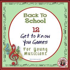Excellent first lesson activities to help students get to know each other and teachers to gain an overview of the student's musical background and knowledge as well as their literacy level.A Google™ slides version of this resource is available HERE♫ This PDF file containing SIXTEEN Ice Breaker activ... Icebreaker Activities, Music Activities, Music Games, Piano Games, Music Music, Music Stuff, Teaching Music, Teaching Resources, Teaching Ideas
