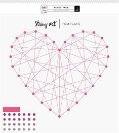 Image result for Heart String Art Patterns Template