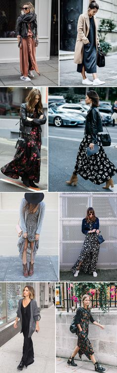how to wear a maxi dress in autumn | maxi dress and stan smiths | How to wear stan smiths | floral maxi dress and boots | how to wear a leather jacket in autumn | Ways to style a leather jacket | ankle boots and maxi dress | autumn fashion | how to wear biker boots | kitted maxi dress | how to style your trench coat | over sized cardigans and maxi dresses