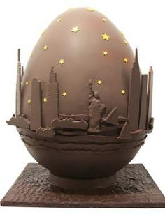 """New York based chocolatier Jacques """"Mr.Chocolate"""" Torres has made a gigantic edible chocolate Easter egg he plans to auction off for charity. Architecture Business Cards, Easter Egg Designs, Chocolate Art, Egg Hunt, Easter Eggs, Decorative Bowls, Foodies, Gallery, Chocolate Easter Eggs"""