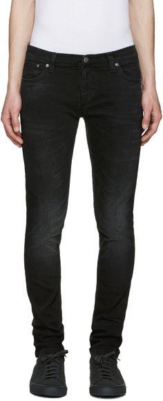 240€ Nudie Jeans - Jean noir Long John