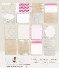 kimla designs | Photoshop Templates for Photographers | Digital Scrapbooking: Project Life | Free Journal Cards