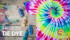 How to Tie Dye: Tulip presents How to Tie Dye, learn the basics step by step.