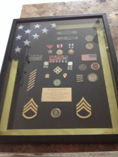 Military shadow box I made myself for my hubby