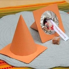 Construction Cone Favor Boxes