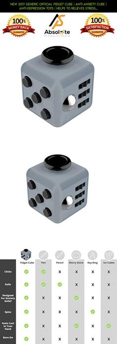 New 2017 Generic Official Fidget Cube | Anti-anxiety Cube | Anti-Depression Toys | Helps To Relieves Stress, Anxiety and Boredom | Stress Cube for Fidgeters | Anti-Depression Toys (Grey/Black) #racing #official #shopping #cube #fidget #tech #camera #gadgets #parts #technology #fpv #plans #drone #kit #products