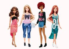 After more than half a century of waiflike homogeneity, the hundreds of doll varieties collectively known as Barbie are welcoming three new body types  ...
