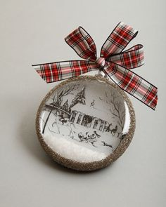 """Country Estate Ruby """"Winter Stable"""" Christmas Ornament by Juliska at Neiman Marcus."""