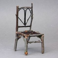 Make a twig chair  ********************************************* miniatures.about.com #garden #gardens #fairy #fairies #house #houses #miniatures #nature #DIY #accessories #crafts #twig #chair - tå√