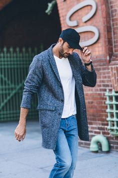 Not just for suits, a topcoat is a great way to dress up a casual weekend look.