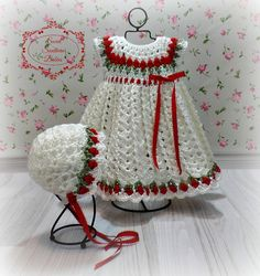 Baby Girl's Red and White Dress by SweetSouthernBabies on Etsy                                                                                                                                                      Mais
